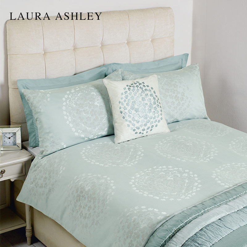 Laura Ashley 可可提花鸭蛋色进口床上四件套被套枕套床笠1.5米床