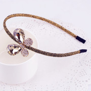 Email genuine diamond jewelry butterfly knot Korea hair jewelry Korean rhinestone headband hairband