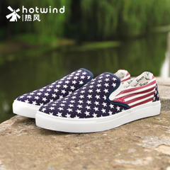 Hot new men's shoes men's Spring Autumn tides lazy Stars Stripes pedal shoe 61W5168