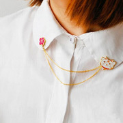 Satisfied that the Korean version of the Mount Fuji, jewelry lovely planet egg lucky cat cloud collar pin brooch 9060