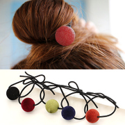 Know Connie hair accessories Korean clean velvet sweet hair rubber band balls play first string jewelry