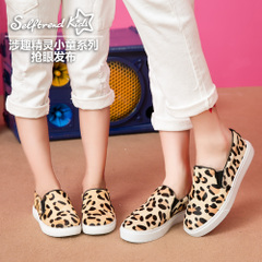 Interesting new 2015 involved parents shoes Leopard print Ma Maole Fu shoes lazy girls with flat shoes leisure shoes T55999K