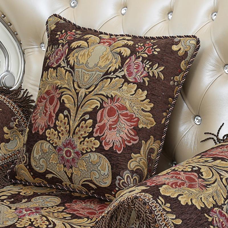 雅典娜 欧式抱枕靠垫沙发靠背垫午睡枕布艺高档提花床头靠垫套
