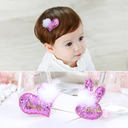 Know NI children hair ornaments cute sequin Bunny love Baby bangs hair clip hairpin clips girls Chuck accessories