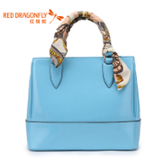 Red Dragonfly new stylish retro handbag hand shoulder bag printed zipper bag branded bags