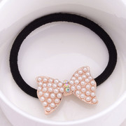 Good jewelry Korea rhinestone Butterfly first string Korean jewelry hair jewelry black rubber band