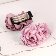 Know Richie simulation flower hair clip hairpin hair accessory jewelry beautiful headdress made by the Korean version of the clip Korean Chuck capitatum