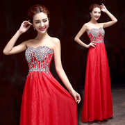 Bridal gown wedding toasts take 2015 new style fashion cultivate one's morality red bridesmaid dresses with purple-studded spring/summer