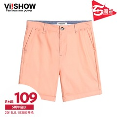 Viishow2015 summer dress new shorts, five men in Europe and the solid color Pant men's casual Shorts Pants boom