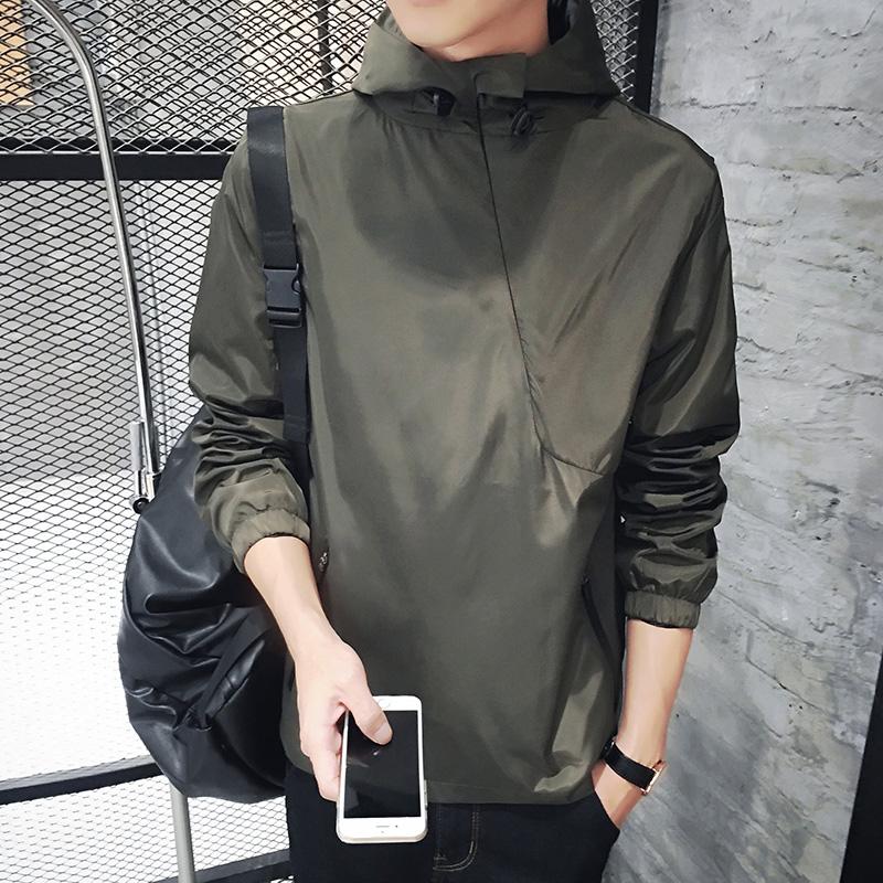 男士外套青少年夹克潮韩版2017新款休闲上衣薄款棒球服春秋季男装