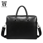 Fall/winter Wanlima/million 2015 solid business new man bag leather Briefcase slung bags
