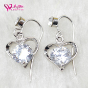 Love ornaments, 16 new style fashion earrings inlaid zircon earring three-layer nickel-free earrings sale