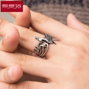New year Mayan Phoenix titanium steel rings men''s aggressive punk retro accessories fashion rings
