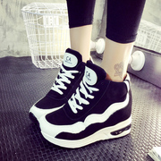 2015 winter season the Korean version of the new platform and velvet shoes with high help shoes sports shoes casual cotton tie Sao powder shoes