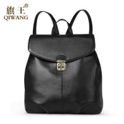 Qi Wang autumn 2015 new Joker Korean backpack Jurchen suede leather soft casual backpack brief