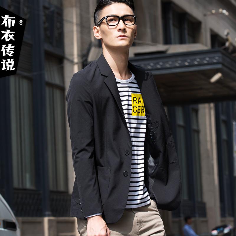 布衣传说 2017春装薄款休闲小西服男韩版青年男士纯色西装潮修身产品展示图1