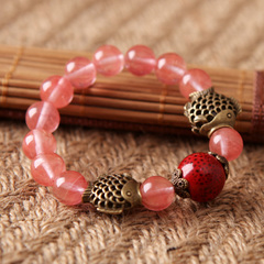Young singers '' Candy-colored glaze on the ceramic bracelet women''s high temperature ceramic bracelet women''s Candy-colored Crystal bracelet women