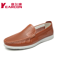 Erkang 2015 summer styles the first layer of leather men's shoes fashion casual breathable comfort foot openwork shoes