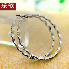 Music Korea fashion earrings women''s temperament women wave hoop diamond circle hypoallergenic exaggerated ear clip
