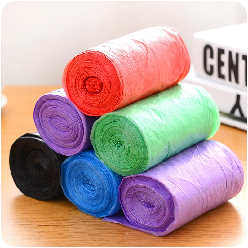 薄款点断式一次性垃圾袋20/50只家用彩色平口环保塑料袋只装内部优惠券