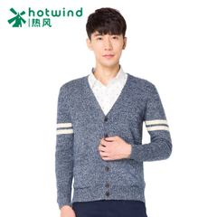 Hot spring and autumn men's casual jackets trendy man v-neck men's sweater knit Cardigan of self 08W5702