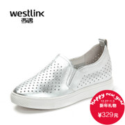 Westlink/West spring 2016 Gao Lefu increases within the new leather platform shoes shoes with a pedal