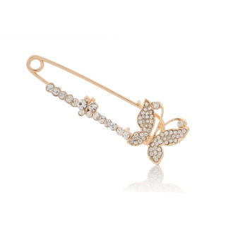 Love Korean jewelry elegant exquisite full rhinestone Butterfly brooch pin brooch party essential