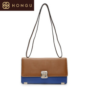 Honggu red Valley counter cross genuine cowhide fashion leisure single shoulder-slung Messenger bags 1593