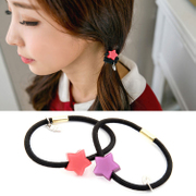 Know Connie hair Candy-colored solid jelly color rope string band color stars circle Pentagram jewelry