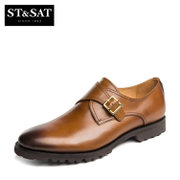 St&Sat/Saturdays-fall 2015 new leather belt buckle monk shoes men's shoes SS53120308
