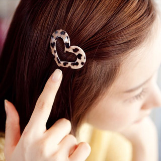 Know Richie new genuine hair jewelry Leopard hearts love edge clip bangs clip a Barrette clip
