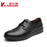 Italian con men's shoes fall 2015 new leather men's casual leather shoe lace thick-soled tie shoes authentic