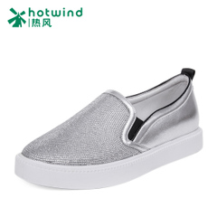 Hot new Lok Fu 2016 shoes women's shoes platform pedals lazy people rhinestone shoes women's flat at the end of H13W6172