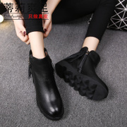 Tilly cool foot fall/winter new style women boots tassel short boots bold with the England women's flat boots winter boots fleece boots