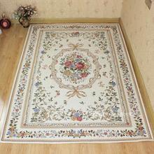 欧式田园地毯茶几客厅卧室床边gs11大地垫wp洗进门脚垫门口