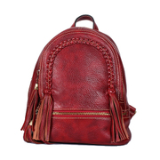 Beautiful Dragon premium suede cowhide double leather shoulder bag women's backpack 2015 new European and American trends backpack tassels