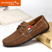 Red Dragonfly leather men's shoes new genuine fashion casual trend in spring 2015 comfort strap men's shoes
