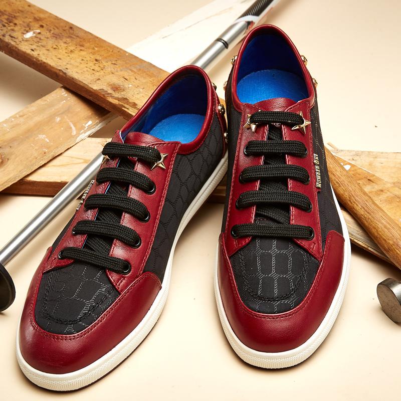 布莱希尔顿2016新品青少年男休闲鞋英伦风板鞋铆钉青春流行男鞋