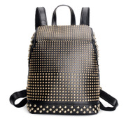 Ou Xuan bulk anti-theft backpack leather rivet Lady fashion travel bags