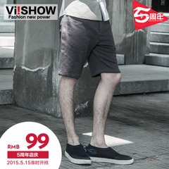 Viishow trendy menswear pants straight leg in Europe and America five casual pants slim Beach shorts