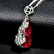 S925 silver safely hoist Thai Ruby girl pendant with stylish new
