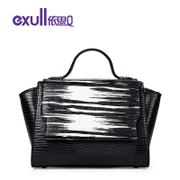 Exull q2016 new spring shoulder bag Korean colour matching casual fashion buckle hand bag for 16310267