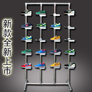 Shoe store shelf display rack mall sale shoe rack shoe bracket sports shoe rack Nakajima shoe cabinet creative window display rack