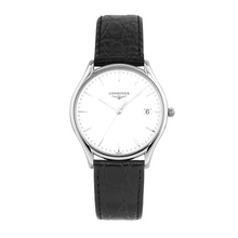 Swiss longqin luya quartz watch gentleman wrist watch belt men's watch L4.759.4.12.2