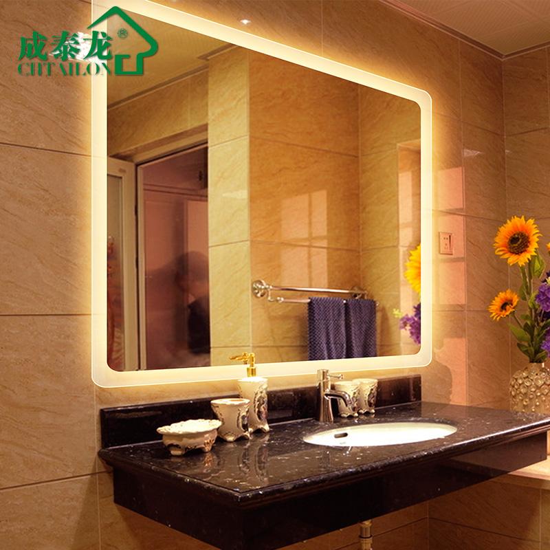 成泰龙 浴室镜透光圆角LED灯镜卫生间镜子卫浴镜化妆镜洗漱镜壁挂