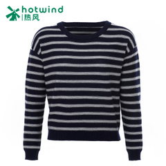 Hot spring of 2016 new female socket in the Korean version of the striped sweater short t shirt women's long sleeve knit F08W6103