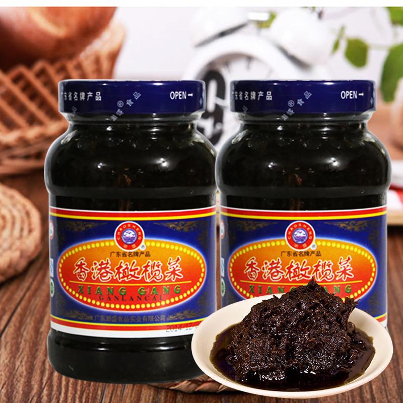 一套2瓶包邮 潮汕特产潮盛橄榄菜450g 早饭下饭菜咸菜 橄榄菜