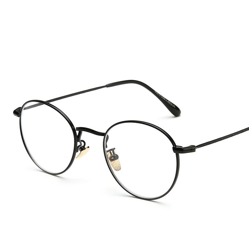 莱纳复古学院风文艺复古金属可配近视圆框眼镜小清新平光镜男女款