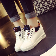 Fall 2015 women's shoes new platform platform high shoes strap movement within Korean wind spell color shoes women