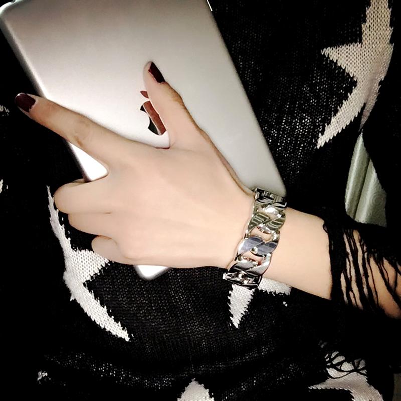 冷淡风朋克个性链条手镯女网红夸张手链女韩版潮人手环学生手饰